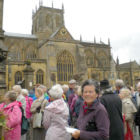 Outside the Abbey Sherborne (PB)