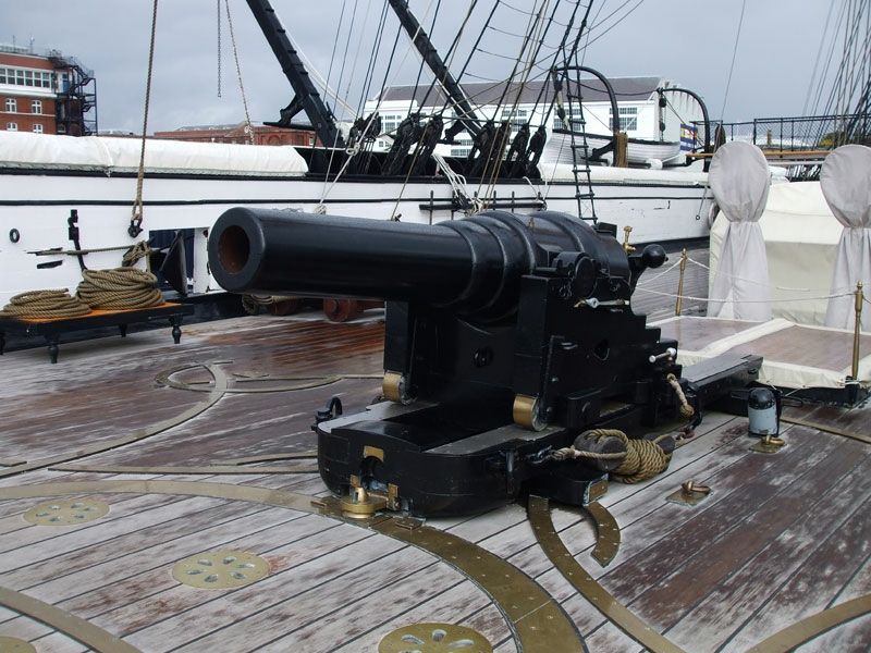One of Warrior's cannons