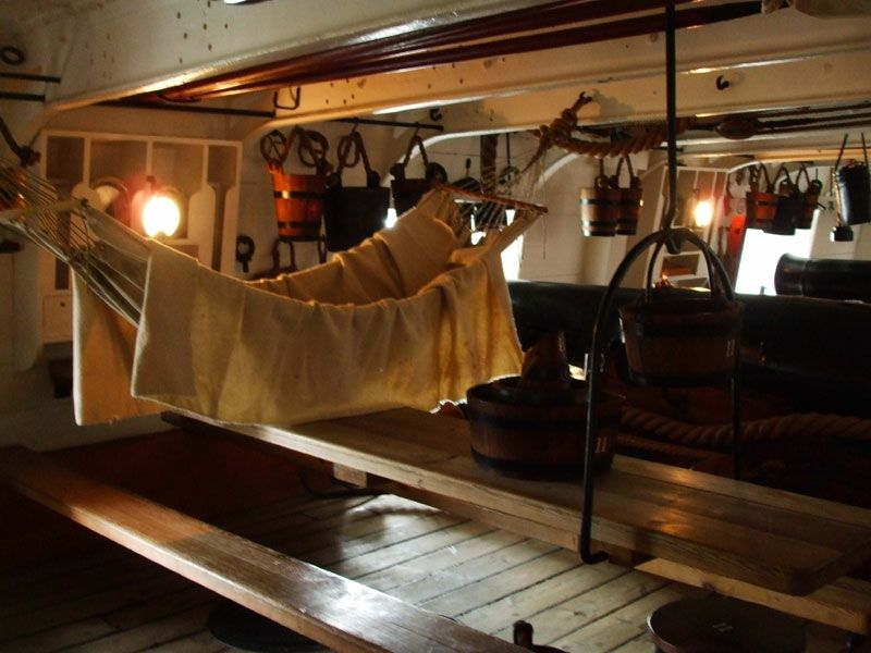 Your sleeping quarters on the gun deck