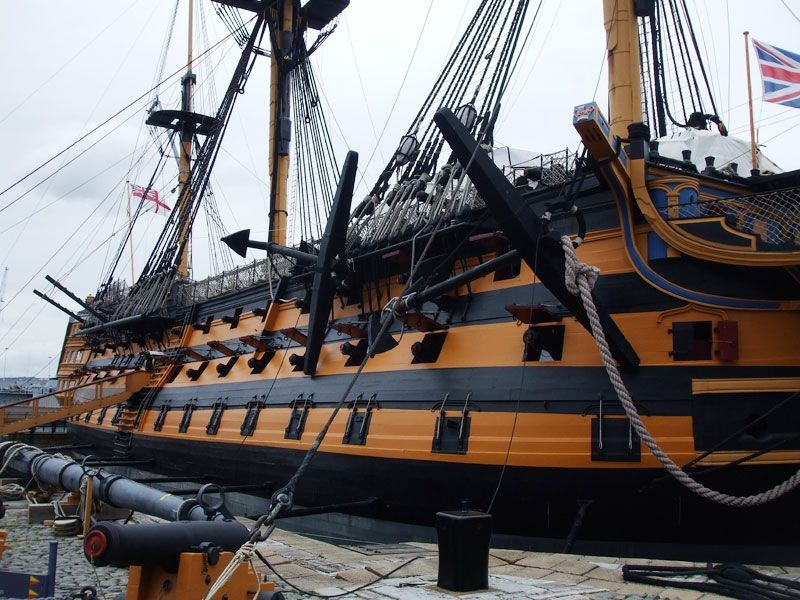 HMS Victory undergoing some serious restoration