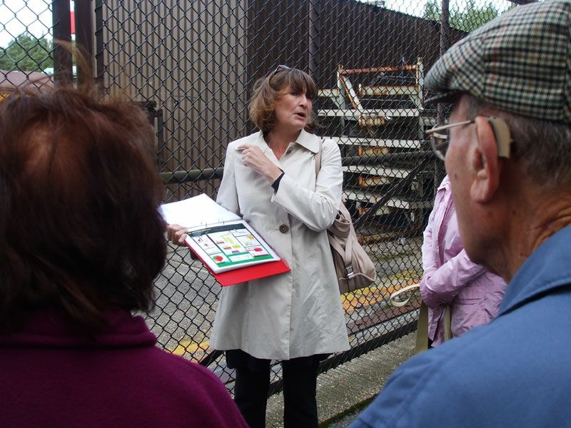Our guide, Dr Suzie Baverstock of BP and now of Perenco explains the processes involved