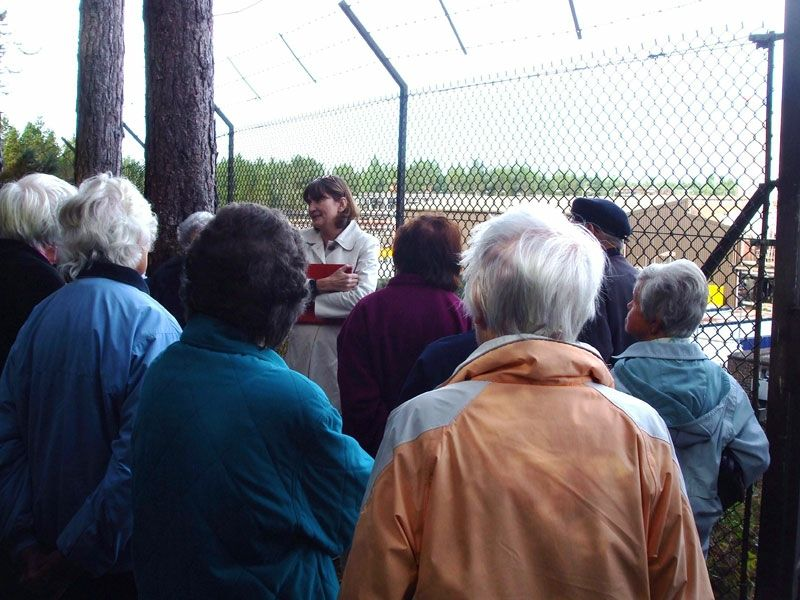 The visit concluded with final questions from members to Dr Baverstock at the viewpoint overlooking the gathering station