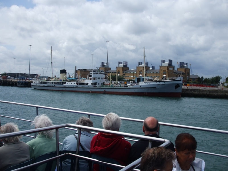 At the start of our cruise we pass the preserved SS Shieldhall